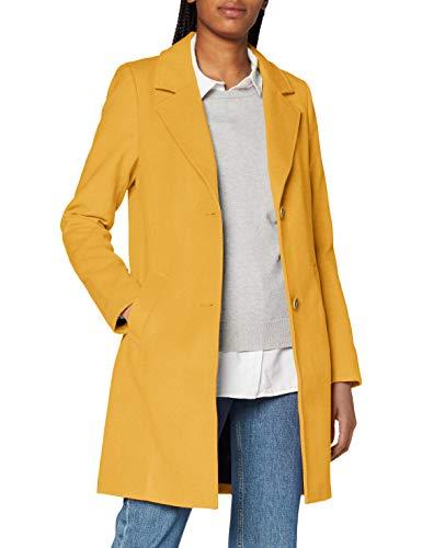 Street One Damen Revers Coat w. Lining Mantel, golden Yellow, 36