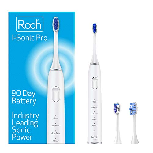 I-Sonic Pro - Roch - Electric Toothbrush - 90 Day Battery - 40,000 VPM - Industry Leading Sonic Power and Battery Life