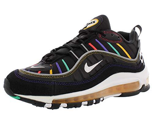 Nike Sneaker Air Max 98 Premium In Schwarzer Textilie Mit Mehrfarbigen Details