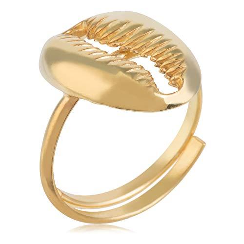 Córdoba Jewels | Anillos en Plata de Ley 925 bañada en Oro con diseño Concha Gold