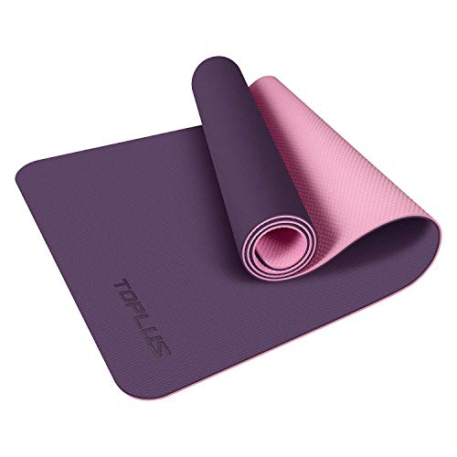 TOPLUS Yoga Mat - Upgraded Thick Hot Yoga Mat Eco Friendly Non-Slip Exercise & Fitness Mat with Carrying Strap, Workout...