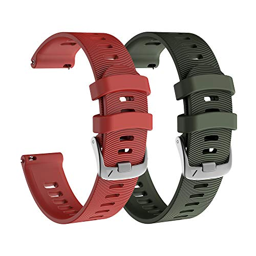 NotoCity Correa para Garmin Forerunner 245/645, 20mm Repuesto de Correa Reloj de Silicona para Garmin Vivoactive 3/Huawei Watch 2/Amazfit Bip/Samsung Galaxy Watch 42mm/Gear Sport/Active