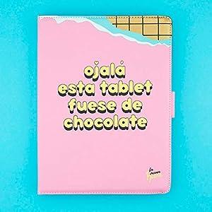 "41kvTALUjHL. SS300  - La Vecina Rubia Funda Tablet Universal 10.1"" Pulgadas - Tipo Libro, con Diseño Tableta de Chocolate"