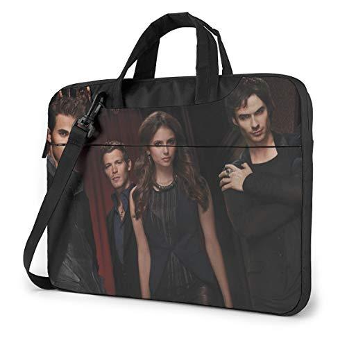 Vampire Diaries Laptop Bag 14 15 16 Inch Briefcase Shoulder Messenger Bag Water Repellent Laptop Bag Satchel Tablet Bussiness Carrying Handbag for Women and Men13 inch