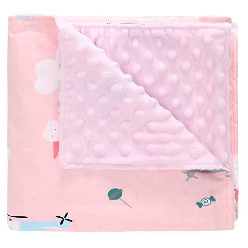 Miracle Baby Manta Bebe Algodón,Manta Coralina Bebe Algodón, Suave y Confortable,Swaddle Wrap Saco de Dormir para Niños (Pequeño, Helicóptero)