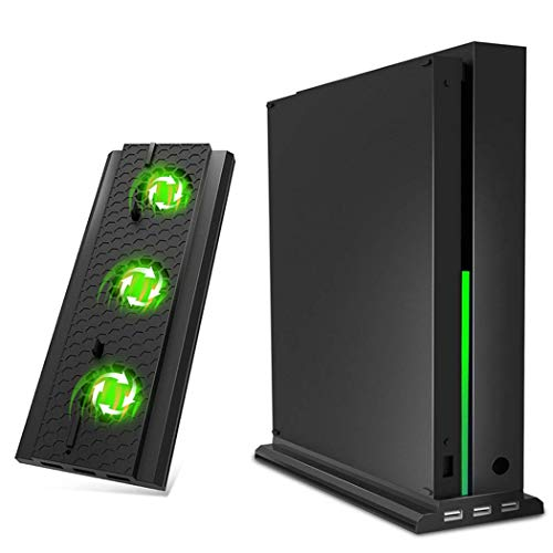 OIVO Vertical Stand Compatible with Xbox One X, Cooling Fan, Vertical Stand Cooler, Cooling Dock Station with 3