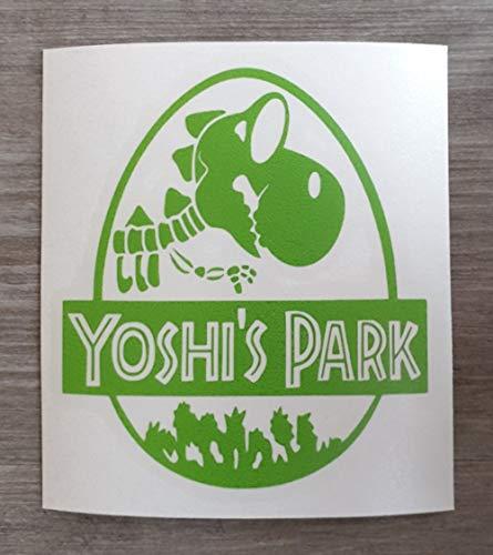 Jurrasic Park Geïnspireerd Yoshi's Park Fun Vinyl Sticker Decal voor auto of huis - HSS391 Med - 14cm x 13cm