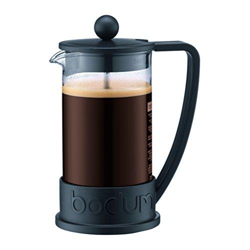 Bodum 10948-01-10 BRAZIL Kaffeebereiter, 3 Tassen, 0.35 l mit Bechergefäss aus PC, Polycarbonat