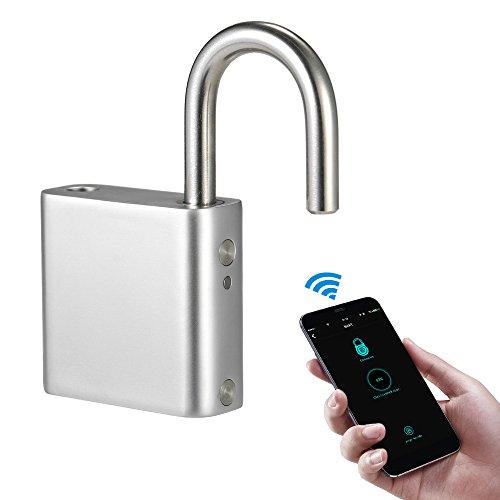 Blusea Bluetooth Vorhängeschloss, BT Smart Keyless Lock wasserdichte APP Entsperren Diebstahlsicherung Vorhängeschloss Tür Koffer Locker Lock für Android iOS System
