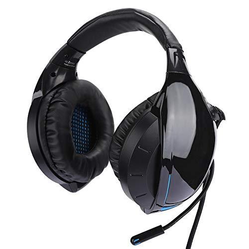 Gaminghoofdtelefoon, 3,5 mm Jack Bedrade Stereo Achteraan Geplaatste Computer Gamingheadset Met Surroundstereomicrofoon, Ruisonderdrukking, voor PS4/voor PlayStation 4/Laptop/Tablet(blauw)