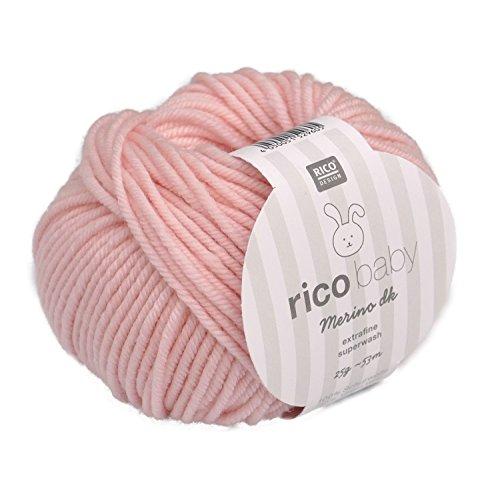 Rico Baby Merino dk 003 - rosa Babywolle Merinowolle extrafine zum Stricken