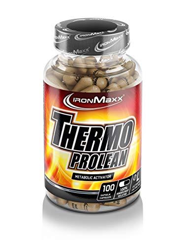 IronMaxx Thermo Prolean Fatburner Kapseln – Koffein Booster unterstützt den Energiestoffwechsel und wirkt Ermüdung entgegen – 1 x 100 Kapseln
