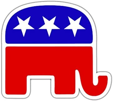 Republican Elephant Sticker RNC Logo Election Bumper Sticker Car Decal Conservative 3 Inch product image
