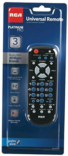 RCA RCR503BZ 3-Device Palm-Sized Universal Remote