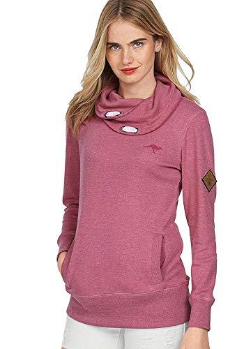KangaROOS Damen Sweatshirt Schalkragen (pink meliert, 32/34 (XS))