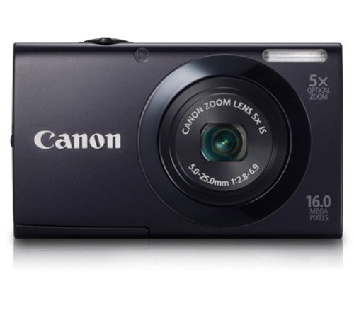 Canon PowerShot A3400 IS Digitalkamera (16 MP, 5-fach opt. Zoom, 7,6cm (3 Zoll) Touch-Display, bildstabilisiert) schwarz