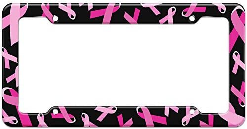 Wahom Blank Breast Cancer Raleigh Mall Awareness License Import Pattern Plate Frame