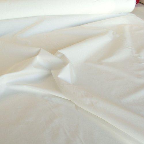 TOLKO Baumwollstoff Meterware Nessel ROH-Baumwolle Creme Weiß als Dekostoff/Bezugsstoff/Modestoff (Breite: 150 cm   mittelschwer)