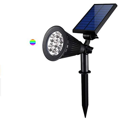 YneqhosJB Solar-LED-licht, 7-LED-tuinlicht draadloos licht wand- / vloerlamp 180 ° instelbare hoek IP42 waterdicht veiligheidslicht en twee modi 8-10 uur gazon