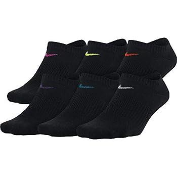 Nike Women s Everyday Lightweight No-Show Socks  6 Pair  Black/Multicolor Medium