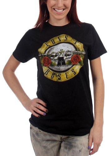 Guns N Roses - - Bullet jeunes femmes en difficulté T-shirt In Black, X-Large, Black