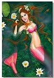 Puzzle 1000 piezas Artística sirena sexy tocando violín pintura puzzle 1000 piezas clementoni Rompecabezas de juguete de descompresión intelectual educativo divertido juego familia50x75cm(20x30inch)