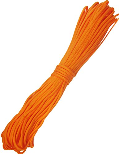 Outdoor Saxx® - 30m Paracord Seil, Type III 550, Abspann-Seil, Multifunktions-Leine, Zelt-Schnur, Nylon Kernmantel Seil, 30m, Orange