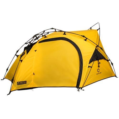[クイックキャンプ] ダブルウォール ツーリングテント 1人用 イエロー