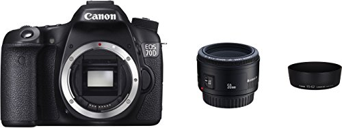 Canon EOS 70D - Cámara réflex Digital (20 MP, Sensor APS-CCMOS de 7,6 cm (3