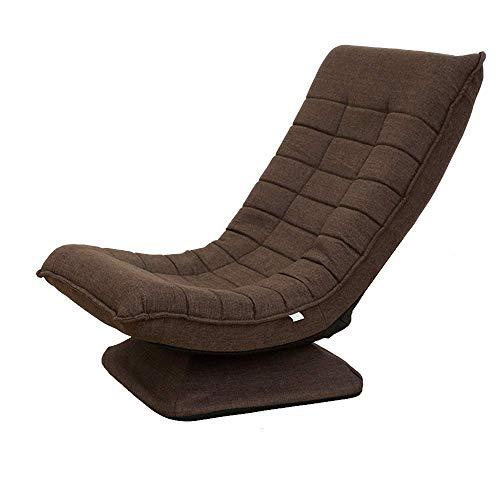 ZHANGYY Sillones para Patio Silla giratoria de 360 Grados para Juegos, sofá de Piso Plegable Silla Perezosa Ajustable de 5 velocidades Durable (Color: Marrón)