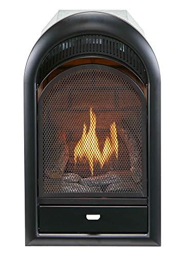 Bluegrass Living B100TN Vent Free Natural Gas Fireplace Insert, 10,000 BTU, T-Stat Control, Black