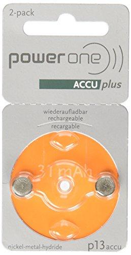 Powerone Accu 13 Wiederaufladbare Hörgeräte Batterien Größe 13