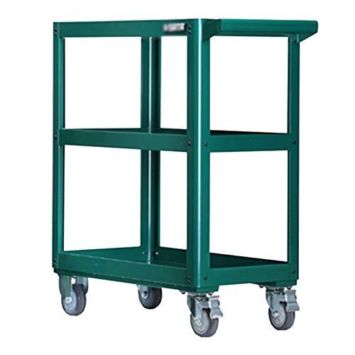 Werkzeugwagen/Multifunktionsteile PKW / 3-Etagen-Servicewagen Abstellregale Werkzeugwagen mit 360 ° -Radfreilauf für Werkstattgarage