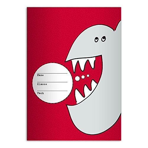 Kartenkaufrausch - Schulhefte in Rot, Größe . 4 Schulhefte