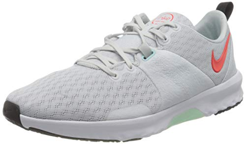 Nike Damen City Trainer 3 Gymnastics Shoe, Pure Platinum/Bright Crimson-Glacier Ice-Black-White, 38 EU
