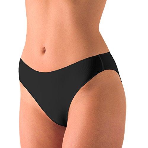Nina von C. 2er Spar-Pack Secret - Jazzpant - Damen-Slip - Größe 36-46 - Creme Haut Schwarz Weiß (38, Schwarz)