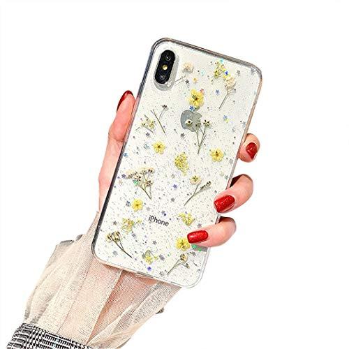 Funda para iPhone 6 Plus de Jacyren, funda para iPhone 6S Plus, funda para teléfono móvil transparente de silicona con flores secas, funda ultrafina de gel TPU hecha a mano, True Flor, carcasa para iPhone 6/6S, a, iPhone 6 Plus/iPhone 6S Plus