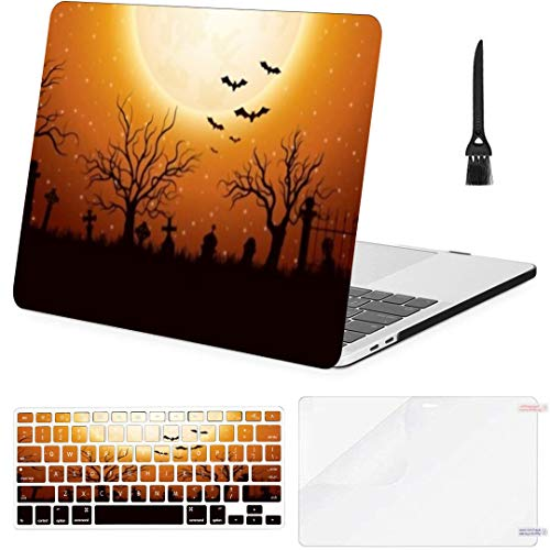 MacBook Pro13 inch Retina (2012-2015) with Retina Display,1502,A1425 Case Halloween Background Graveyard MacBook Case with Keyboard Cover Screen Protector Cleaning Brush