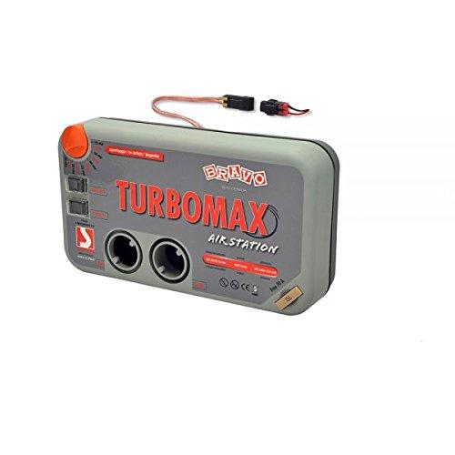 SCOPREGA elektrische pomp Bravo Turbo Max KIT 12 V met montageset voor elk type opblaasbaar. Elektrische beluchter met montageset voor ellebogen, honden, matrassen, kajaks, SUP