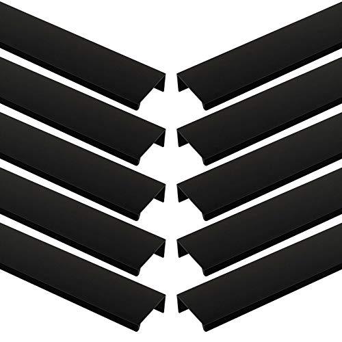 10 x Hinterschraubgriff Blankett Jane 380 mm schwarz Schrankgriffe Griffleiste Schubladengriffe von Sotech