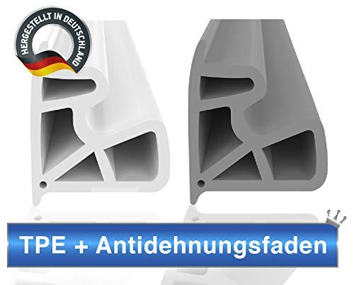 Stahlzargendichtung Grau 5m - gegen Zugluft Lärm & Staub spart Heizkosten Dichtung Dichtungshöhe 15,5mm Dichtungsbreite 13mm Falz Türdichtung (Grau 5m)