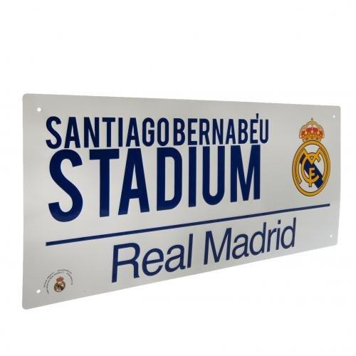 La plaque de rue officielle Real Madrid F.C.