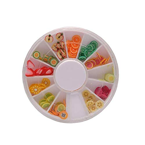Hotaden 1 Set Mixed Colour Fruit and Sweet Candy Slime Charms Slices with Flatback for Diy Craft and Decoration