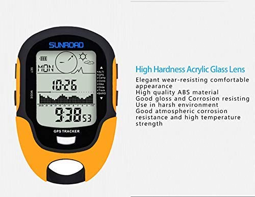 SUNROAD GPS Digital Impermeable al Aire Libre Deportes brujula cronometro