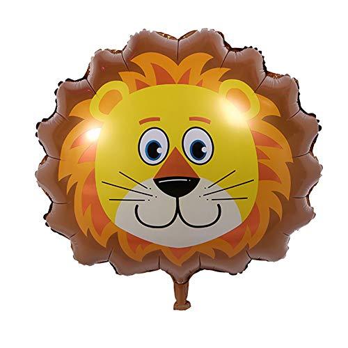 JUNGEN Globos de Animales con Forma de león Globo de Aluminio Globo de Dibujos Animados para Bebe Niño Globo Decorativo para Cumpleaños Fiesta temática