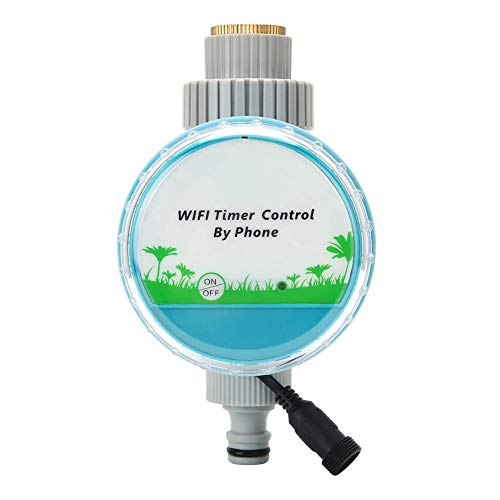 Oumefar Temporizador de riego Herramientas de riego Temporizador de riego de plástico para jardín