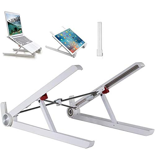 LOVEHOUGE Laptop Stand,Foldable Laptop Holder,Air-Ventilation Ergonomic Notebook Support Tray,Adjustable Height,Compatible with Most Computers