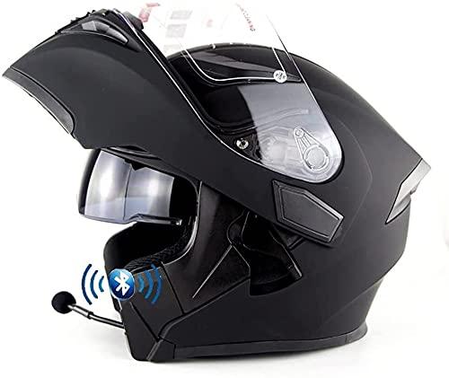YLFC Casco Moto Bluetooth Cascos Modulares Casco Certificado ECE AnticolisióN Antivaho Espejo Doble Bluetooth Cascos Multiuso Ultraligero Transpirable Unisex (Color : 6, Size : XL)