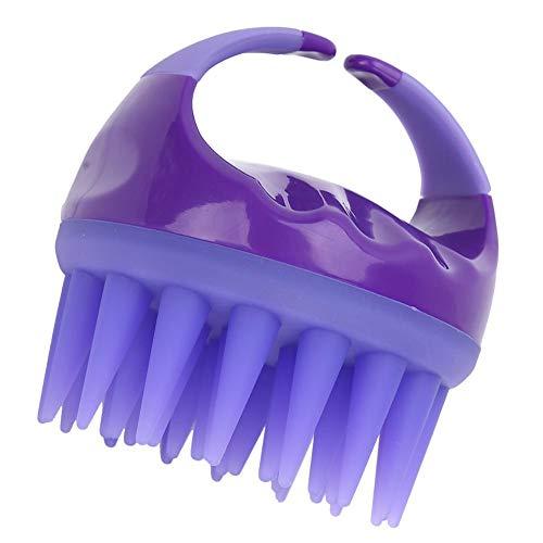 Masseur de cuir chevelu de brosse de shampooing de main pour tous les types de cheveux, peigne de massage de cuir chevelu d'épurateur de tête pour le lavage de nettoyage de cheveux(Violet)