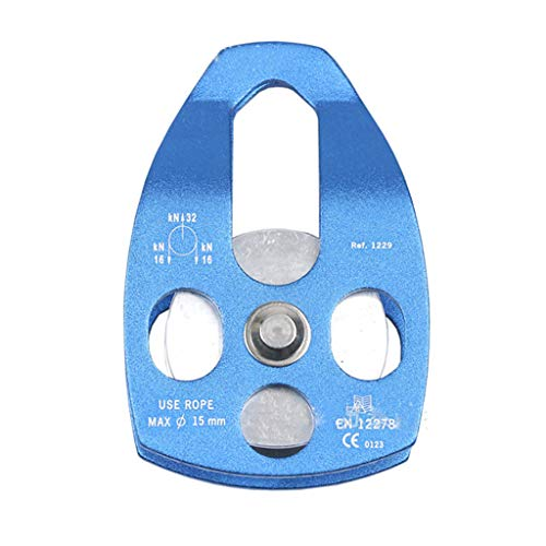 niumanery Fusion Aluminum Rescue Pulley Outdoor Rock Climbing Rescue Pulley Sheave Gear